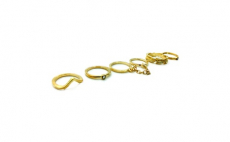 6Pcs Gold Plated Punk Metal Chain Joint Finger Knuckle Rings Set, 4.2, Groupon,