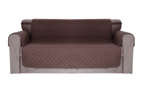 Chiara Rose Anti-Slip Reversible Arm-Rest Elastic Strap Pet Sofa Cover, 23.99, Groupon,