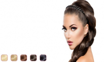 Flat braid headband hair extensions – flat braid hair extension hair band, 9.99, Groupon,