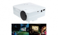 HD 1080P Home Cinema Theater LED LCD Projector PC AV TV VGA USB HDMI, 69.77, Groupon,