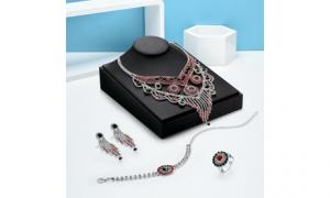 Faux Rhinestone Ethnic Earrings Antique Victorian Tear Drop Earrings, 7.89, Groupon,