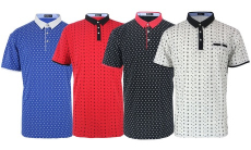 LeeHanTon Men's Short-Sleeve Solid Slim-Fit Collar Polo T-Shirt, 13.99, Groupon,