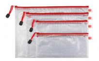 PVC Zippered Envelope Organization Storage Pouch Bags, 7.95, Groupon,