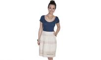 Checker Print Textured Skater Mini Short Skirt, 11.99, Groupon,