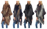 Womens Knitted Poncho Cape with Tassel Batwing Pullover Sweater, 12.34, Groupon,