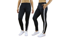 Women's Moisture Wicking Track Jogger Pants, 14.99, Groupon,